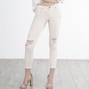 STS Blue Jean Emma Ankle Skinny White Distress 26